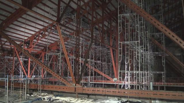 祭場耐震補強工事 進捗状況