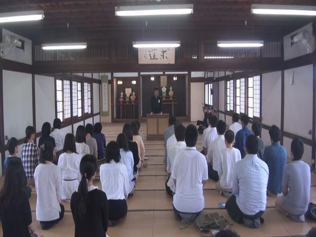 5月14日 金光教学院本科入寮式