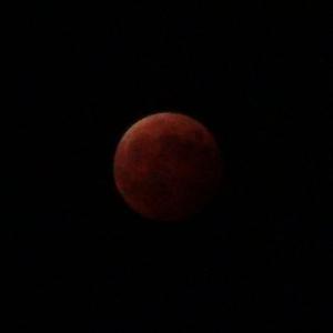 【ご霊地の風景】 皆既月食