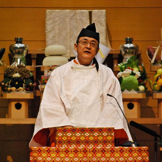 布教功労者報徳祭並びに金光キクヨ姫五十年祭 教務総長挨拶