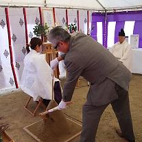 3月27日 金光学園幼稚園新園舎着工奉告祭