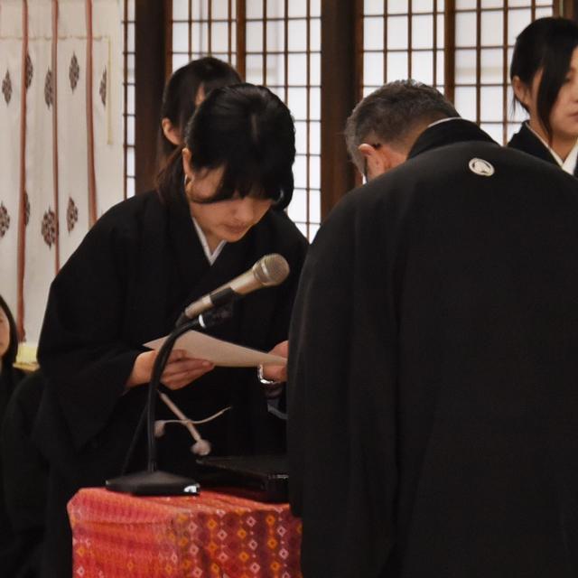 4月15日 平成26年度 金光教学院本科卒業証書授与式