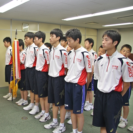8月19日 金光学園中学校男子バレーボール部全国大会出場報告